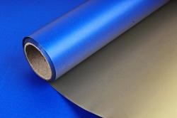 Упак. материал флористическая пленка с золотом, 58 см х 5 м, синий (М) 9570