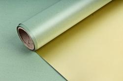 Упак. материал флористическая пленка с золотом, 58 см х 5 м, зеленый (М) 9587