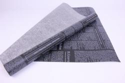 """Упак.материал Флористический Пергамент """"Газета"""", 50cm*10m, (Белый на черном, WXP-38)"""