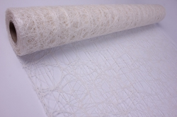 Упак. Материал Искусственная сизаль Премиум, перламутровая, 50 см x 5 м (Белый, PRSW-01)