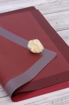 """Упак. материал """"Листовая пленка с широкой каймой"""", 58 х 58 см, 20 листов/упак., винный 5334"""