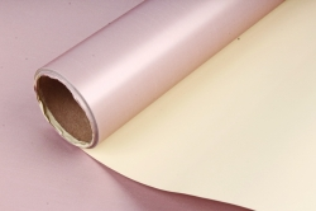 "Упак. материал матовая плёнка двухцветная ""Ля Розе"", 60см х 5м, желтый/розовый (М) 3270"