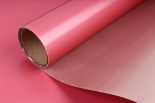 "Упак. материал матовая плёнка двухцветная ""Ля Розе"", 60см х 5м, красный/бежевый (М) 3249"