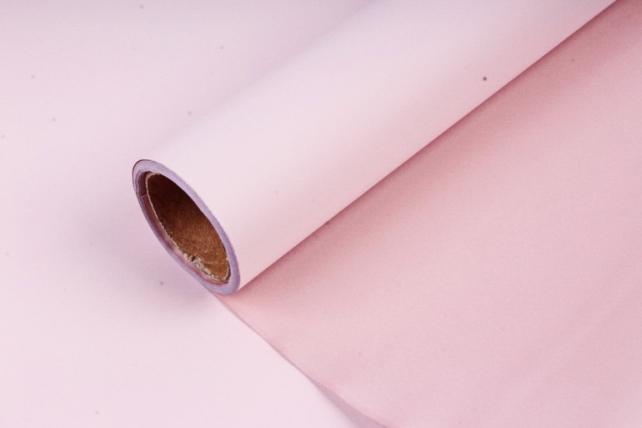 """Упак. материал матовая плёнка двухцветная """"Ля Розе"""" 58см х 5м, розовый/розовый (М) 0941"""