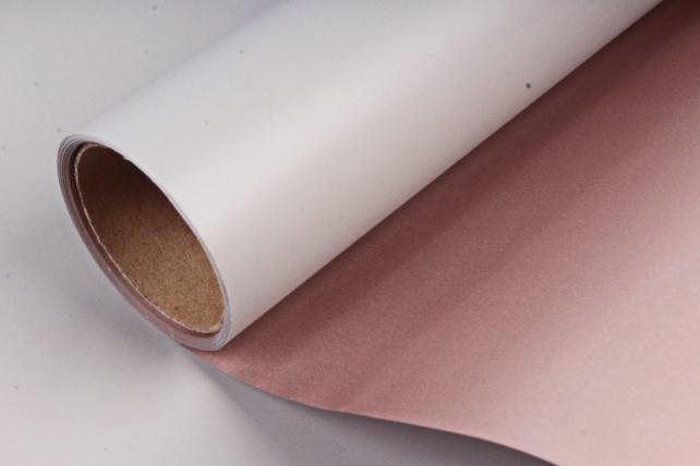 "Упак. материал матовая плёнка двухцветная ""Ля Розе"", 60см х 5м, серо-зеленый/бежевый (М) 3256"