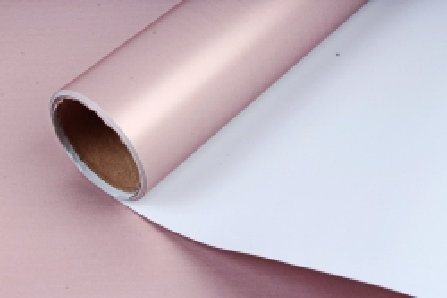 "Упак. материал матовая плёнка двухцветная ""Ля Розе"", 60см х 5м, светло-голубой/розовый (М) 3195"