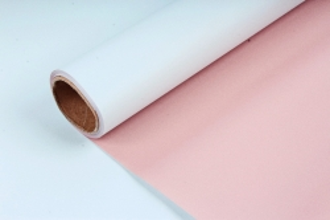 "Упак. материал матовая плёнка двухцветная ""Ля Розе"" 58см х 5м, светло-голубой/розовый (М) 0958"