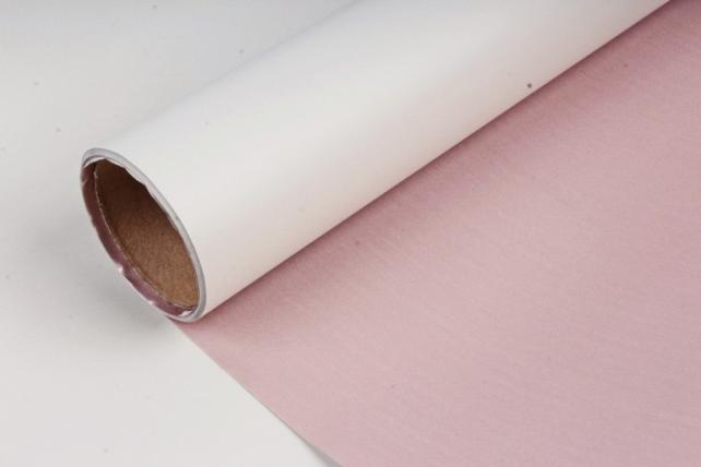 "Упак. материал матовая плёнка двухцветная ""Ля Розе"", 60см х 5м, светло-салатовый/розовый (М) 3225"