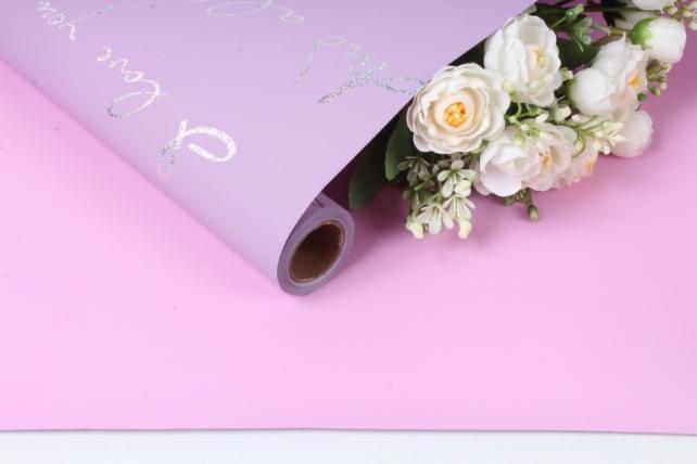 """Упак. материал матовая пленка """"Каприз"""", 70 мкр, 60 см х 10 м, розовый 6398 М"""