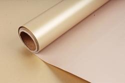 """Упак. материал пленка двухцветная """"Дуэт"""", 58см х 5м, Бежевый/золотой (М) 0460"""