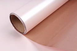 """Упак. материал пленка двухцветная """"Дуэт"""", 60см х 5м, кофейный/нежно-розовый (М) 3423"""