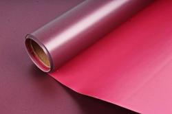 """Упак. материал пленка двухцветная """"Дуэт"""", 58см х 5м, красный/бордовый (М) 0453"""