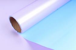 """Упак. материал пленка двухцветная """"Дуэт"""", 60см х 5м, лиловый/голубой (М) 3478"""