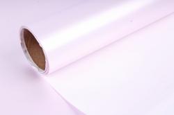 """Упак. материал пленка двухцветная """"Дуэт"""", 60см х 5м, нежно-розовый/белый (М) 3430"""