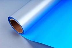 """Упак. материал пленка двухцветная """"Дуэт"""", 58см х 5м, ярко-синий/стальной (М) 0446"""