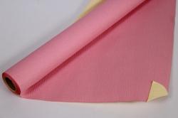Упак.материал Рельефная Бумага, двухсторонняя, 50 cm х 5m (Розовый/Кремовый, NWPW-01)