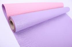 Упак.материал Рельефная Бумага, двухсторонняя, 50 cm х 5m (Сиреневый/Розовый, NWPW-09)