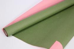 Упак.материал Рельефная Бумага, двухсторонняя, 50 cm х 5m (Темно-Зеленый/Розовый, NWPW-12)
