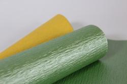 упак.материал рельефная бумага, перламутровая, двухсторонняя, 50 cm х 5m (оливковый/желтый, nwpw-20)