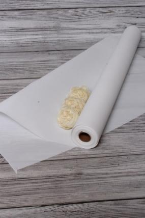"""Упак. материал водонепроницаемая пленка """"Каффин"""", полиэтилен, 75 гр/м3, 60 см х 5 м, белый 8946М"""