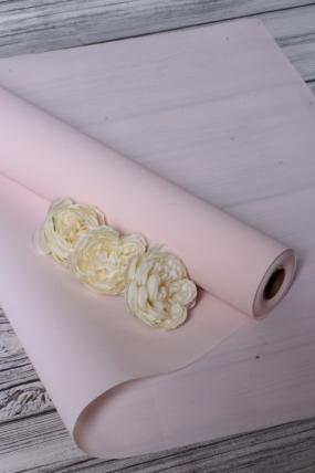 """Упак. материал водонепроницаемая пленка """"Каффин"""", полиэтилен, 75 гр/м3, 60 см х 5 м, розовый 8960М"""