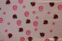 упаковка для цветов,- цветочная плёнка - божьи коровки 0.7 упаковка для цветов,- цветочная плёнка - рулон 0,7 божья коровка красно-розовый 558