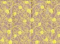 Упаковка для цветов,- Цветочная плёнка - Рулон 0,7 Дольче вита  (240гр) желтый