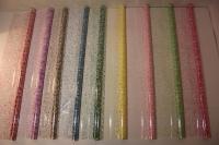 гипсофила 0.7 упаковка для цветов,- цветочная плёнка - рулон 0,7 гипсофила - бронзовый/белый 17972