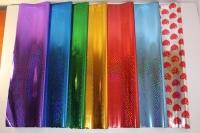 голография 0.7 упаковка для цветов,- цветочная плёнка - рулон 0,7 голография - синий 9426
