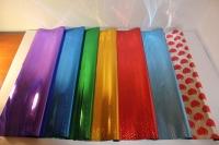 голография 0.7 упаковка для цветов,- цветочная плёнка - рулон 0,7 голография - синяя сталь 942