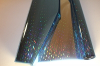 Упаковка для цветов,- Цветочная плёнка - Рулон 0,7 Голография - Синяя сталь