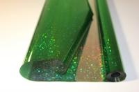голография 0.7 упаковка для цветов,- цветочная плёнка - рулон 0,7 голография - зелёный 9421