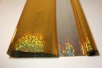 голография 0.7 упаковка для цветов,- цветочная плёнка - рулон 0,7 голография - золотой 9422