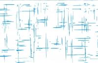 Упаковка для цветов,- Цветочная плёнка - Рулон 0,7 Граффити - голубой