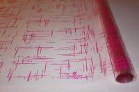 граффити 0.7 упаковка для цветов,- цветочная плёнка - рулон 0,7 граффити - малиновый 13834