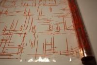 граффити 0.7 упаковка для цветов,- цветочная плёнка - рулон 0,7 граффити - оранжевый 13835