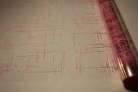 граффити 0.7 упаковка для цветов,- цветочная плёнка - рулон 0,7 граффити - розовый 13837