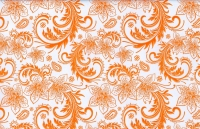 Упаковка для цветов,- Цветочная плёнка - Рулон 0,7 Кружево - оранжевый
