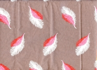 Упаковка для цветов,- Цветочная плёнка - Рулон 0.7 Перья - красно-белый