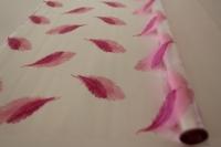 перья 0.7 упаковка для цветов,- цветочная плёнка - рулон 0.7 перья - розово-сиреневый 58111