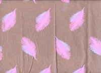 Упаковка для цветов,- Цветочная плёнка - Рулон 0.7 Перья - Розово-сиреневый