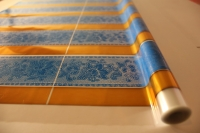 Упаковка для цветов,- Цветочная плёнка - Рулон 0,7 Золушка - Голубой