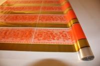 Упаковка для цветов,- Цветочная плёнка - Рулон 0,7 Золушка - Оранжевый