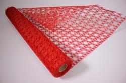 Упаковочный МатериалАжурныйКрошет,50смх4,5м(красный)