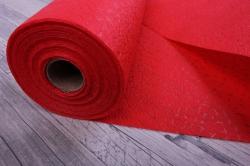 Упаковочный материал Фетр 3D Искры, 50см 10м, красный  NW011-008-3D