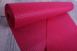 Упаковочный материал Фетр 3D Волна, 50см 10м, малиновый  NW036-012-3D
