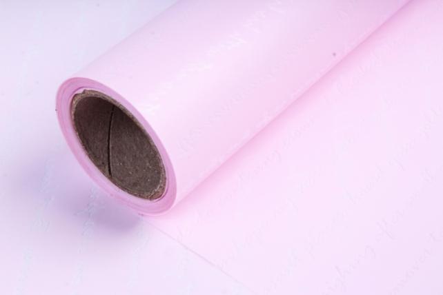 """Упаковочный Материал флористическая пленка """"Послание"""", 60 см х 10 м, Светло-Розовый"""