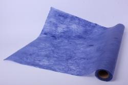 """Упаковочный материал Ламинированный фетр """"Мрамор"""", 60 см х 5 м Синий"""