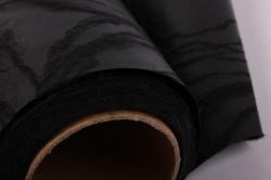 """упаковочный материал ламинированный фетр """"розы"""", 60 см х 5 м черный"""