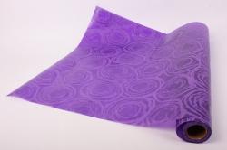 """Упаковочный материал Ламинированный фетр """"Розы"""", 60 см х 5 м Фиолетовый"""